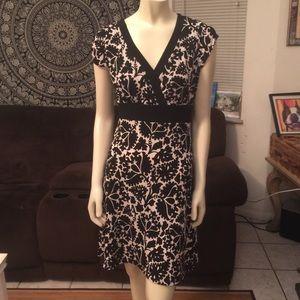 White House Black Market Unique Print Design Dress